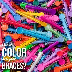 These tiny colored rings attach to the Orthodontic brackets and keep wires in place. They're typically changed once a month, so patients often choose colors that match their favorite sports teams, school colors or upcoming holidays. They add a little fun to Orthodontic treatment.