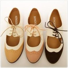 BN Womens Shoes Classics Dress Lace Ups Low Heels Oxfords Shoes Flats Pink Brown