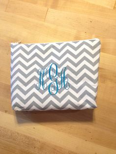 Monogrammed Cosmetic Bag by SplendidlySew on Etsy, $12.00