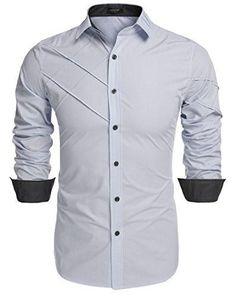Men's Slim Fit Dress Shirt Coofandy Long Sleeve Fashion Casual Shirts