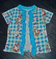 Vestje gemaakt van oud  jurkje (RECYKLEREN)