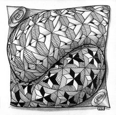 amazing depth in this #zentangle