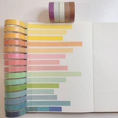 Color | The Washi Tape Shop Washi Tape Storage, Washi Tape Set, Stationary School, Stationery Store, Bullet Journal Spread, Simple Colors, Girly Things, Girly Stuff, Swatch