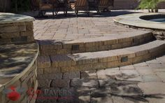 Belgard Mega Bergerac hardscape is the thicker version of the regular-sized Bergerac stones from Belgard, allowing for even greater support for heavy traffic, and best-suited for driveways. Belgard Pavers, Driveways, Courtyards, Patio Ideas, Landscape Design, Entryway, Stones, Deck, Backyard