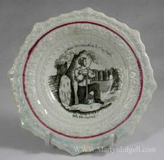 Childs plate, Little Strokes Fell Great Oaks, circa 1840. More stock available at www.martynedgell.com