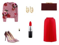 """""""Untitled #7697"""" by mie-miemie ❤ liked on Polyvore featuring Dolce&Gabbana, Balenciaga, Jimmy Choo, MAC Cosmetics and Suzanne Kalan"""
