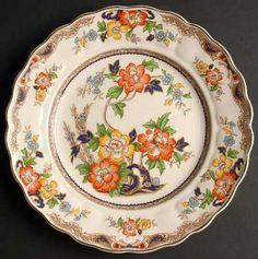 WH Grindley Amp Co Chelsea Ivory Pattern Porcelain Soup Bowl