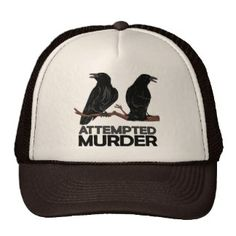 Two Crows = Attempted Murder Hat Popular Colors, Crows, Yellow, Blue, Hot Pink, Hats, Stuff To Buy, Shopping, Style