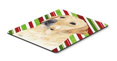 Labrador Candy Cane Holiday Christmas Mouse Pad, Hot Pad or Trivet