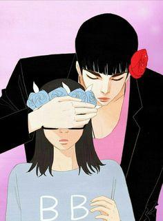 Read Spirit Fingers Manga Online For Free Manga Couple, Couple Art, Spirit Fingers Webtoon, Blue Fingers, Read Manga Online Free, Ordinary Girls, Webtoon Comics, Cute Anime Couples, Anime Comics