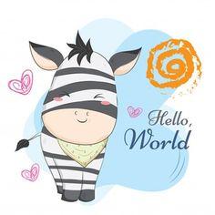 Motivo de cadeia de bebê zebra Zebra Illustration, Pattern Illustration, Cute Kawaii Drawings, Cartoon Drawings, Geometric Background, Background Patterns, Zebras, Zebra Cartoon, Baby Zebra