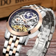 67.99$  Watch here - Watch Mens Tourbillon Automatic mechanical Watches Moon phases Men Top Brand Luxury Dive 50M Business full steel Clcok Relojes  #magazine