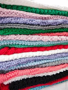 Bunke af strikkede klude