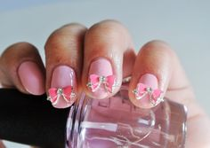 2 pcs 3d nail charm pink bow nail art. by GlamourFavor on Etsy