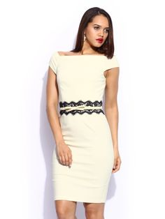 Paper Dolls Off-White Bodycon Dress