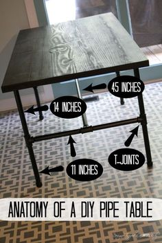Pipe Table Tutorial LOVE IT! DIY Pipe Industrial Table--full tutorial by Designer Trapped in a Lawyer's Body.LOVE IT! DIY Pipe Industrial Table--full tutorial by Designer Trapped in a Lawyer's Body.