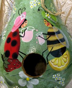 pictures of ladybug birdhouse\ - Bing Images