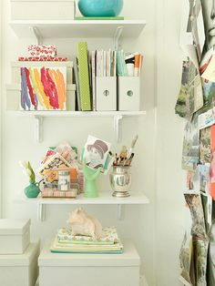 Bookshelves provide visual interest and functionality to your space: http://www.bhg.com/decorating/storage/shelves/get-picture-perfect-bookshelves/?socsrc=bhgpin072214functionalform&page=13