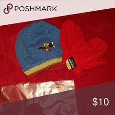 Baby wear hat and mittens hat 2t-5t New hat and used mittens but 2 piece set Gymboree Other