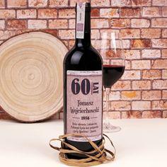 Personalizowane Czerwone Wino OKRĄGŁE URODZINY