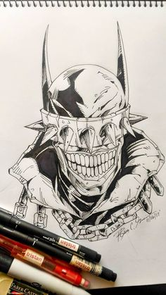 The Batman Who Laughs by tsart Batman Drawing, Drawing Superheroes, Comic Drawing, Arte Dc Comics, Marvel Comics Art, Badass Drawings, Dark Art Drawings, Joker Art, Batman Art