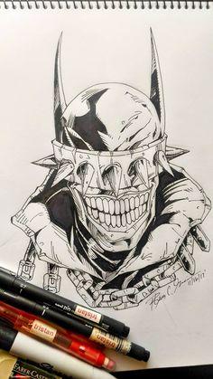 The Batman Who Laughs by tsart Batman Drawing, Batman Artwork, Comic Drawing, Arte Dc Comics, Marvel Comics Art, Badass Drawings, Dark Art Drawings, Comic Books Art, Comic Art