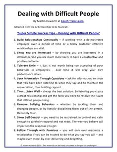 Adult life skills - Dealing with Difficult people Leadership Coaching, Leadership Development, Communication Skills, Self Development, Educational Leadership, Leadership Activities, Professional Development, Servant Leadership, Leadership Quotes