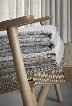 Textiles, Wishbone Chair, Uni, Color Mixing, Brown And Grey, Modern Design, Contrast, Fabrics, Calm