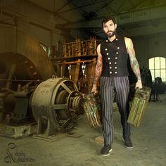Photographin:Doris Fazekas  Fashion and Accessoires by Kupferdach Production - Schmuck und Couture e.U.  Hair & Makup: Zoe Marvie  Model: Rob Perez #steampunk #fashion #menfashion #steampunkfashion