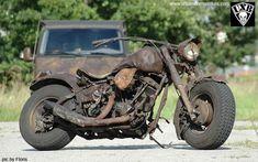 """bobberinspiration: """"Harley-Davidson Shovelhead ratbike """" Winner!"""