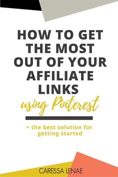 Did you hear? Pinterest now allows their users to use affiliate links and the doors are opening for us business owners and bloggers. Find out ways you can maximize your reach and income using affiliate links and the BEST resource for getting started. via /CaressaLenae/ | Business Strategy + Coaching + Blogging + Mompreneur