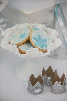 Frozen Winter Wonderland themed birthday party via Kara's Party Ideas KarasPartyIdeas.com Stationery, decor, cake, tutorials, favors, recipes, and more! #Frozen #WinterWonderland