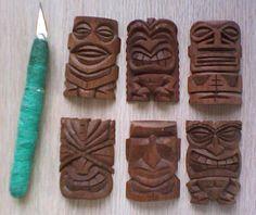 Different styles of tiki carvings by tflounder Wood Crafts, Diy And Crafts, Tiki Totem, Tiki Tiki, Tiki Head, Tiki Statues, Tiki Decor, Tiki Lounge, Tiki Mask