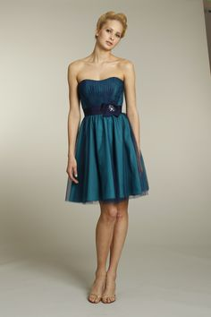 Love the colour. Jim Hjelm Occassions Fall 2011 bridesmaid dress. Naomi and me both love this apart from it being strapless.