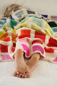 Rainbow Blanket Crochet Pattern.