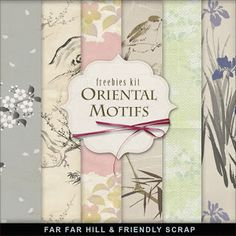 Far Far Hill - Free database of digital illustrations and papers: Freebies Kit of Oriental Background