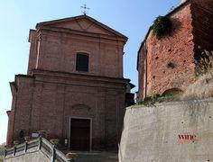 Parish church of St. Dalmazzo in Castellinaldo, the Roero wine zone of Piemonte, Italy