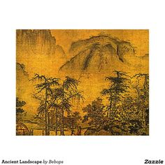 Ancient Landscape Wood Wall Art