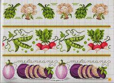 Ateliê Artetramas - Artesanato: Gráficos Ponto Cruz- Legumes