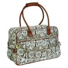 Amy Butler for Kalencom Dream Traveler Carry On Duffle Bag - Temple Doors Tobacco - AB105-TEMPLE-DOORS-TOBACC