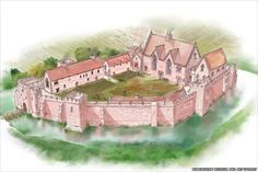 Early manor houses were not only homes for knights, but strongholds for them and those under them. Castles in miniature, they protected the villagers from the surrounding area. This is a reconstruction of a manor house that is over 700 years old. The ones Nathan would have lived in would have had less windows.