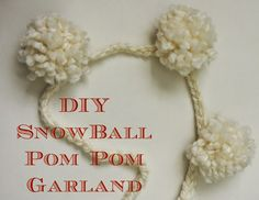 SaSea Decor: DIY Pom Pom Snowball Garland On The Cheap