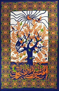 Psychedelic Tree of Life - Tapestry