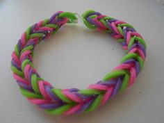 """DIY: bracelets loom élastiques """"fishtail"""" avec ou sans machine"""