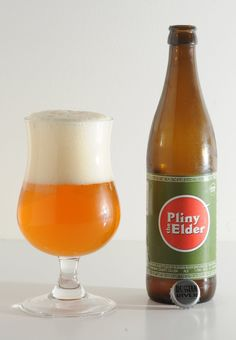 Pliny The Elder by Russian River. Arguably the perfect double IPA, and an introduction for which I'll always thank Courtney Sato. Best Ipa, Pliny The Elder, Wine Folly, Homemade Beer, Double Ipa, How To Make Beer, Beer Brewing, Hot Sauce Bottles, Beer Bottles