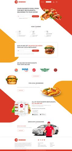 The Most Popular WordPress Themes In The World And The Ultimate Visual Page Builder. Homepage Design, App Ui Design, Site Design, Food Web Design, Best Web Design, Landing Page Inspiration, Ui Design Inspiration, Conception D'interface, Design Your Own Website