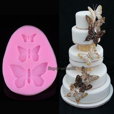 Silicone Butterfly Shapes Mold Cake Fondant Decorating Sugar Craft Mould Tools #UnbrandedGeneric