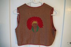 Vintage Child's Cowboy Indian Vest with by retrowarehouse on Etsy