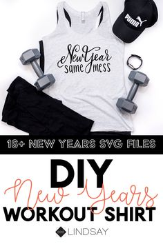 Number one hot mess Number one hot mess express is here! Use this free SVG file with your Cricut or Silhouette and make this totally honest New Years shirt for workouts or just your standard homemade t-shirt for lazy days. Workout Wear, Workout Shirts, Homemade T Shirts, New Years Shirts, Cricut Tutorials, Cricut Ideas, Kids Cuts, New Years Outfit, Silhouette America