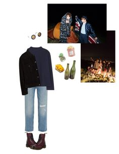 """""""with friends"""" by starlord-8 ❤ liked on Polyvore featuring M.i.h Jeans, The Row, Dr. Martens, Avignon, Smash Vintage, MANGO, Ghibli and The Hampton Popcorn Company"""